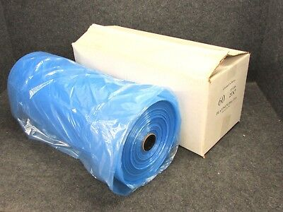 "NEW! DRY CLEANING GARMENT BAGS, BLUE TINT POLY, 60"" x 21"" x 7"", FULL ROLL!"