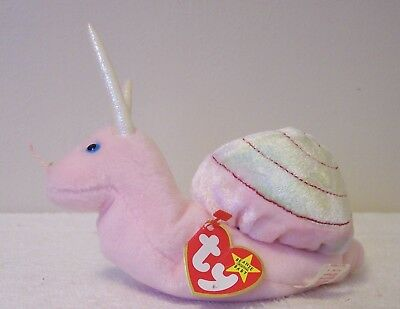 """Ty Beanie Babies Original Collection  """"swirly""""  A Snail"""