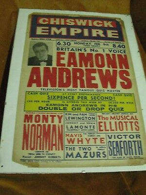 """Chiswick Empire - Eamonn Andrews """"Double or Drop"""" + support acts An original"""