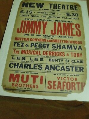 Cambridge New Theatre - Jimmy James & support. An original poster