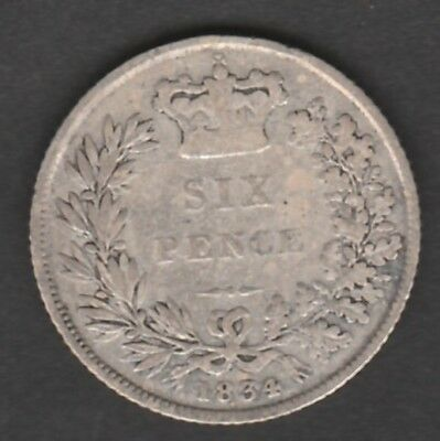 7315 - WILLIAM IV  silver 6d 1834 collectable with clear date