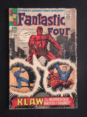 Fantastic Four #56 MARVEL 1966 - Silver Surfer cameo - Jack Kirby, Stan Lee!!!!