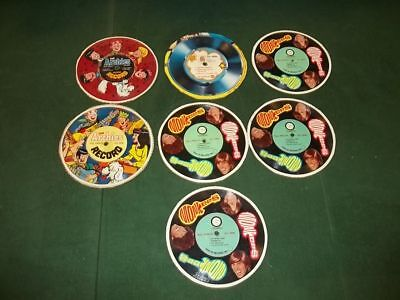 Vintage Lot 7 Monkees Archies Jackson 5 Cereal Box Records