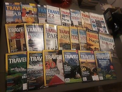 National Geographic Traveler Lot of 22 Magazines 2000's Vacation Beach Trip