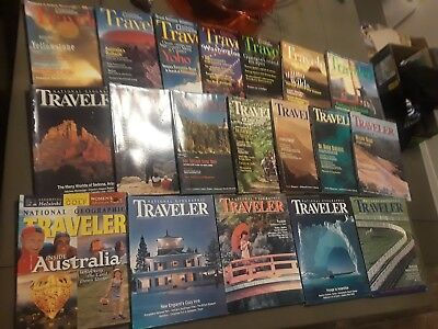 National Geographic Traveler Lot of 19 Magazines 1990's Vacation Beach Trip