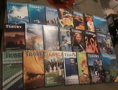National Geographic Traveler Lot of 21 Magazines 1980's Vacation Beach Trip