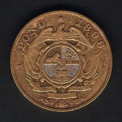South Africa.  1898 Gold Pond..  Trace Lustre..  F/F+