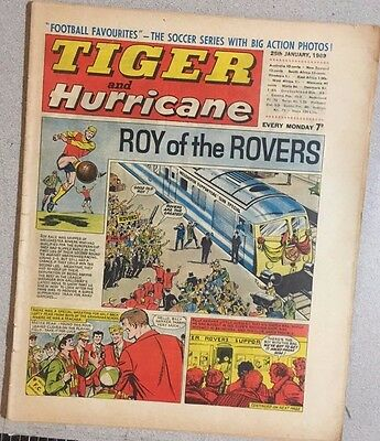 TIGER  and HURRICANE weekly British comic book January 25, 1969