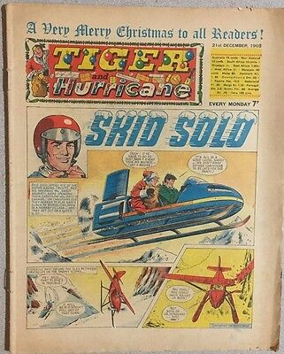 TIGER  and HURRICANE weekly British comic book December 21, 1968