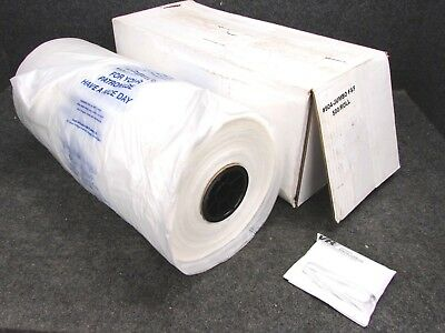 "NEW! LAUNDROMAT FLUFF & FOLD BAGS, CLEAR POLY, 30"" x 18-3/4"" x 10-1/2"", 500-ROLL"