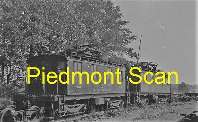 Piedmont & Northern Railway Original B&w Trolley Negative Of Loco 5101