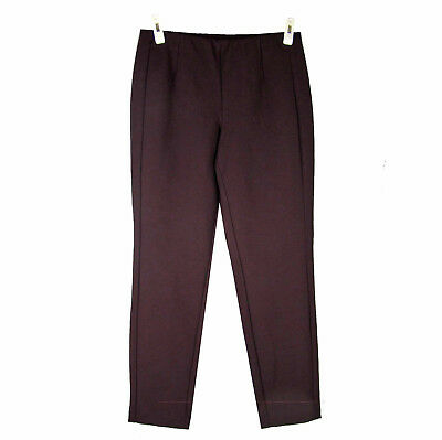 J. JILL Slim Ankle Pant S Stretch Ponte Knit Flat Waist Mid-Rise Pull-on Cropped