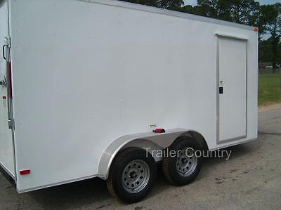 NEW 6x12 6 x 12 V-Nose Enclosed Cargo Trailer w/ Ramp - NEW 2018