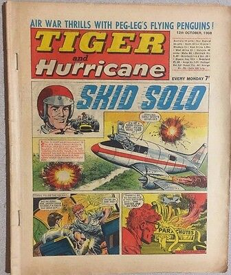 TIGER  and HURRICANE weekly British comic book October 12, 1968
