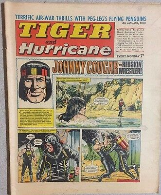 TIGER  and HURRICANE weekly British comic book January 4, 1969