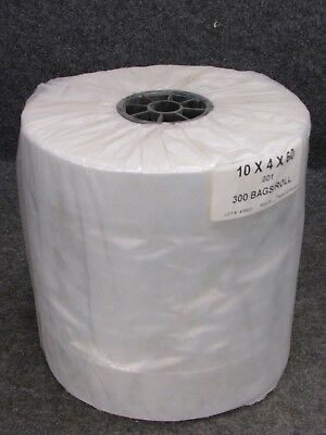 """NEW! DRY CLEANING GARMENT BAGS, CLEAR POLY, 60"""" x 10"""" x 4"""", 300-COUNT ROLL"""