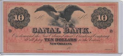CU 1840's-1850's $10 New Orleans Canal Note (Red Eagle)...99 cents...NR!