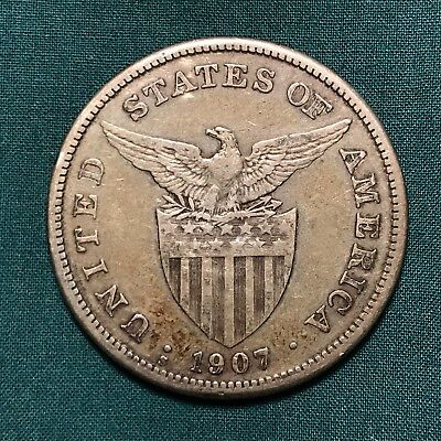 1907-S United States Commonwealth of the Philippines 1 Peso Silver Filipinas