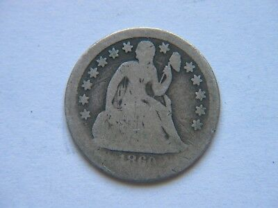 1860-S 10c Liberty Seated Dime Rare Key Date