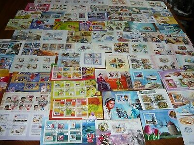 Lot# 2 Worldwide   Foreign  Souvenir Sheets  Collection  Lot 8 Different Sheets