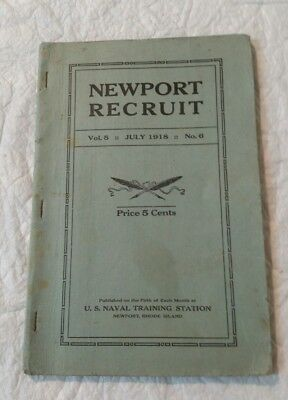 July 1918 U.S. Naval Training Station Newport, RI Newport Recruit 64 Pages