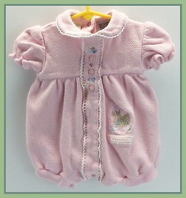 1999 Vintage Royal Doulton BUNNYKINS Pink One-Piece Easter Outfit Size 0-3 M
