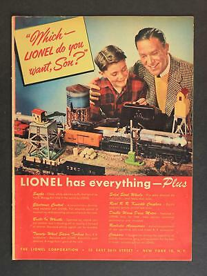 1946 LIONEL TRAIN CATALOG~12 Pages~GREAT MODEL TRAIN IMAGERY/INFORMATION