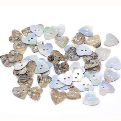 100Pcs Lot Heart Seashells Buttons 15MM Craft Sewing Scrapbooking DIY Cards