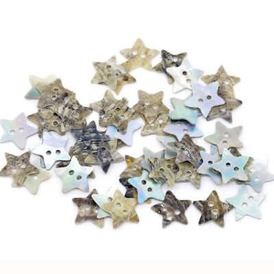 100pcs Novelty Pentagram Shape Seashells Buttons 2 Holes Sewing Scrapbooking DIY