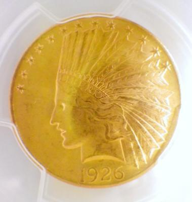 1926 Indian Head TEN Dollar Gold Eagle Coin $10 PCGS MS63 UNCIRCULATED