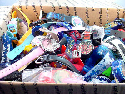 4 lb 12 oz LOT OF CHARACTER WRISTWATCHES MAY NEED BATTERIES, REPAIR OR FOR PARTS