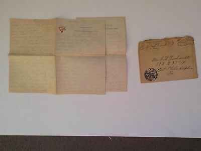 Boxing WWI Letter 1919 BENNY LEONARD vs JOHNNY DUNDEE AEF Soldier WW1 Fight VTG