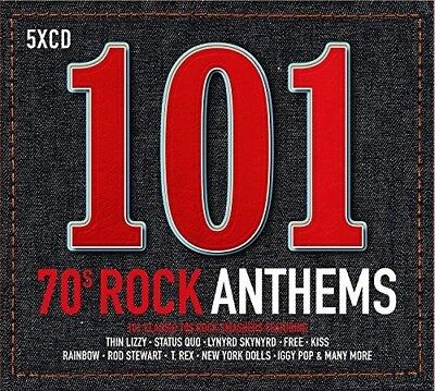 101 70s Rock Anthems by Various Artists (CD, May-2017, 5 Discs, Spectrum...