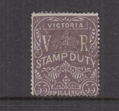 VICTORIA 1879 35/- Violet STAMP DUTY-Revenue- Elsmore Cat $120+++ VFU