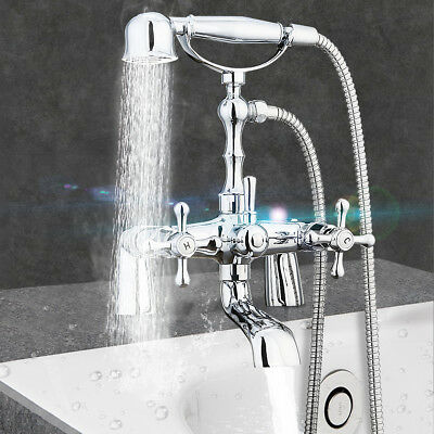 Hotcold Chrome Clawfoot Bath Tub Bathroom Faucet With Hand Sprayer