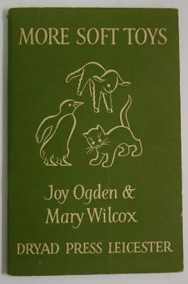MORE SOFT TOYS Book with pattern sheets Ogden/Wilcox Toy Making 1958 Dryad Press