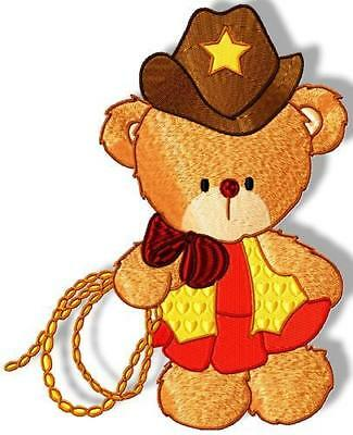 Cowboy Bear 10 Machine Embroidery Designs Cd 4 Sizes Included