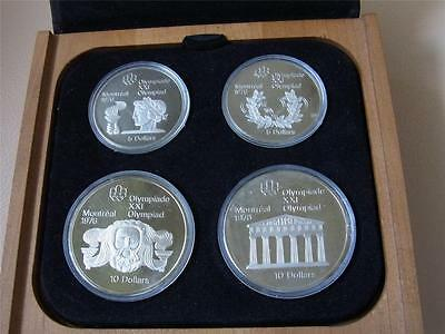 Canada. 1974 4 Pce Silver - Olympic Proof Set. (Series 2)  4-335oz ASW . Cased