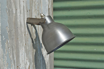 Cool industrial styled aged steel spot light wall lamp adjustable work light