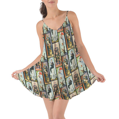 Haunted Mansion Stretch Paintings Beach Cover Up Dress
