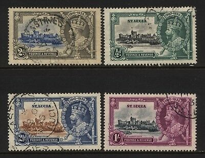 St Lucia 1935 KGV Silver Jubilee Set Used