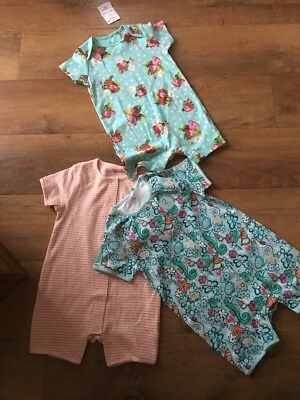 New Next Girls 3 Bundle Summer Shorts Playsuit / Age 12 - 18 months 1 1/2 years