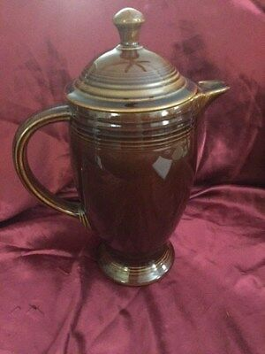 Rare! Sheffield Amberstone by Homer Laughlin~ Rare! Coffee Pot~ Marked Fiesta