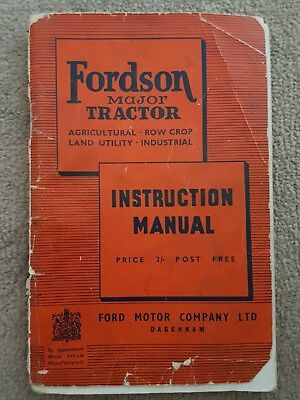 Fordson Major Tractor Operators Manual 1950