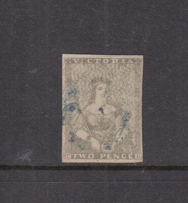 Victoria 1850 2d Dull Grey HALFLENGTH-2nd State Ham Printing-SG6a Cat  £225 FU