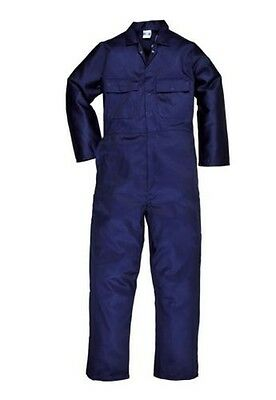 Portwest Euro Boilersuit Coverall Stud Front Elastic Waist Work XS - 5XL S999