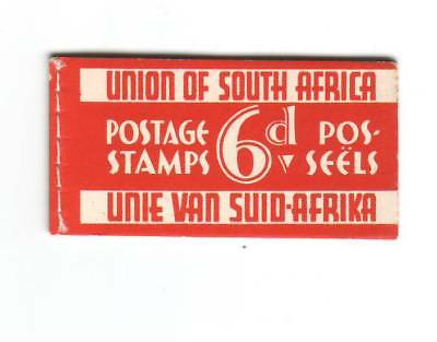 1937 South Africa 6d  Red Razor booklet