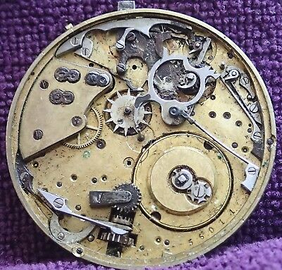 Wolf Tooth winding Wheels  Hunter REPEATER Pocket Watch Movement circa 1900
