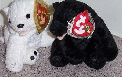 AURORA AND CINDERS Ty Beanie Baby MINT WITH MINT TAGS BEARS
