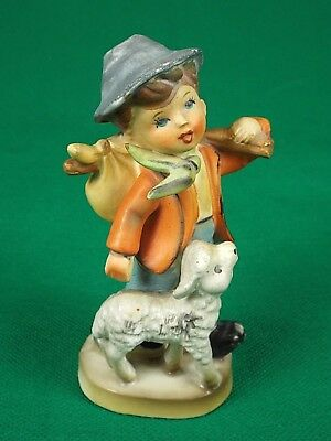 """Boy with Lamb Figurine (Chinese Base Mark) (5"""" height)"""